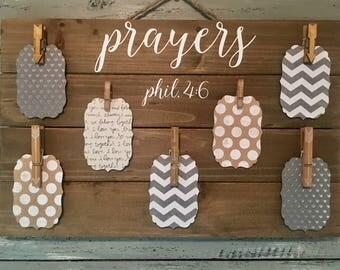 Prayer Board  Wooden Prayer Sign  Prayer Request  Christian Gift Wedding Present  Meaningful Gift Housewarming