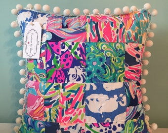 lilly pulitzer pillow one of a kind pillow pillow included 16 x 16 in