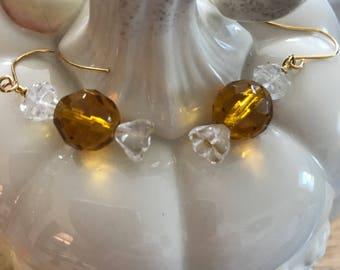 Hard Candy Earrings - Dark Yellow