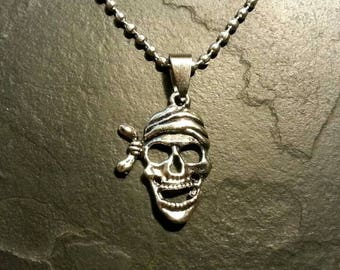 Skull Skeleton Pirate Jolly Roger Necklace Pendant Charm Style Gift Present