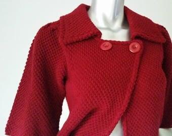 Short red coat | Etsy