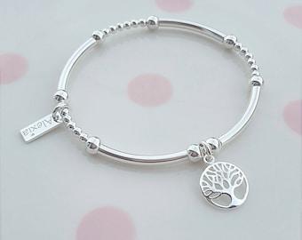 Family Tree Bracelet, Tree of Life Bracelet, Sterling Silver Family Tree Bracelet, Silver Family Tree Bracelet, Family Tree, Tree of Life