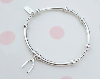 Sterling Silver Wishbone Bracelet, Silver Wishbone Bracelet, Wishbone Bracelet, Silver Wishbone, Wishbone Charm, Gift For Her