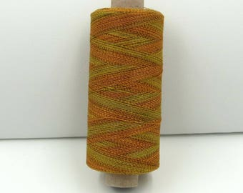 Valdani Unique Twist Overdyed Cotton-Polyester 40wt Thread: #T78 Trembling Leaf