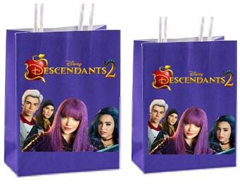 Disney Descendants 2 Party Favor Bags instant download