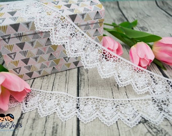 Lace white with a romantic design