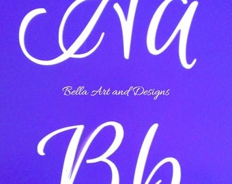 LETXL011 - X-Large Letters and Numbers Stencil Set *Free gift with every order*