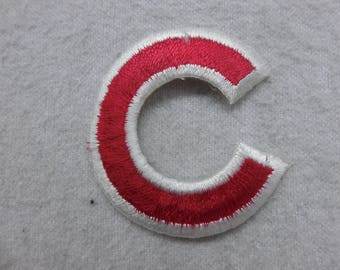 Chicago Cubs Baseball  C Iron On Patch