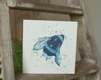 Blue Bee Card