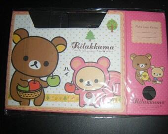 small stationery for the office rilakkuma cardboard storage box
