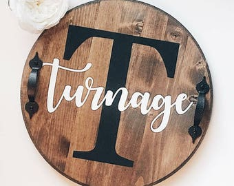 Custom lazy susan, lazy susan, lazy susan turntable, wood lazy susan, personalized decor, farmhouse decor, rustic lazy susan, wedding gift
