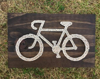 MADE TO ORDER Bicycle Silhouette String Art Board