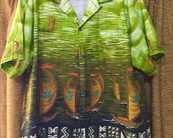 Vintage Mens Hawaiian Shirt by Tropicana Hawaii