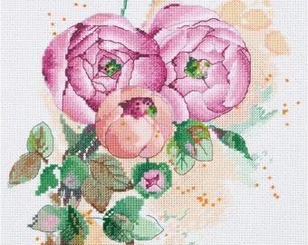 Cross Stitch Kit Ranunculus