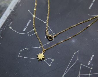 North Star Necklace, Gold North Star Necklace, Gold Star Necklace, Tiny Gold Star Necklace, Tiny North Star Necklace, North Star Pendant