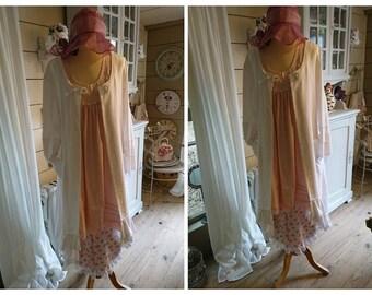 CECILIA romantic white, Gothic, hippie, Gypsy, shabby chic coat.