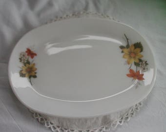 Vintage Autumn Glory Pyrex Steak Dinner Plate