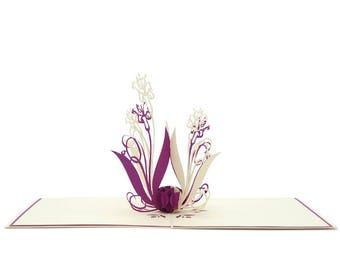Lily flower purple color