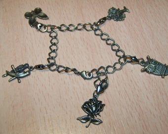bronze chain bracelet 20cm pet nature charms