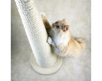 The Wizard's Hat: Vanilla Edition - Handmade Huge Sisal Cat Scratching Post - Choose Your Favourite Colour