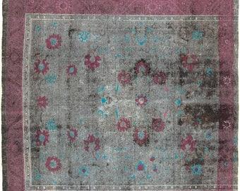 "ON SALE Vintage Handmade Persian Rug 10'0""x11'0"" - (Limited Edition) - Hunttrugs"