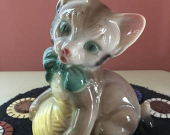 Vintage Royal Copley Kitten Figurine