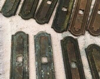 Lot of Vintage Brass Hardware