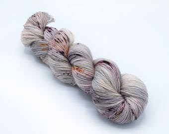 Godswood - Hand Dyed Yarn - Sock - Blue Faced Leicester BFL Wool - Hand Painted - Nylon - Fingering Weight - Kettle Dyed Yarn - Speckled