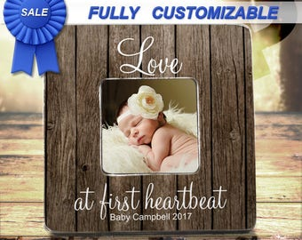 First Mothers Day New Mom Gift Baby Shower Gift New Baby Frame Ultrasound Frame New Baby Gift Love At First Heartbeat Love At First Sight