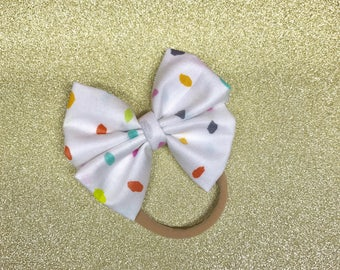 Funfetti Bow Headbands and Bow Clip