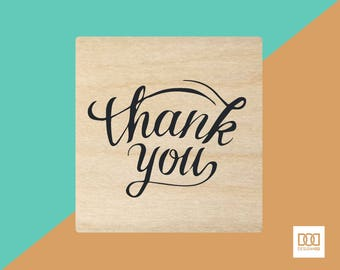 Thank You Stacked - 3cm Rubber Stamp (DODRS0116)