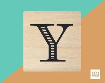 Modern Alphabet-Y - 3cm Rubber Stamp (DODRS0179)