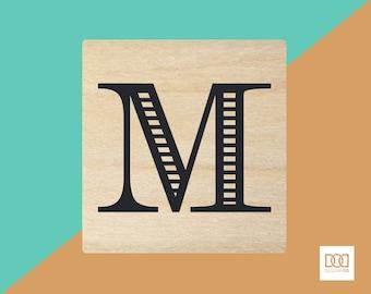 Modern Alphabet-M - 3cm Rubber Stamp (DODRS0167)