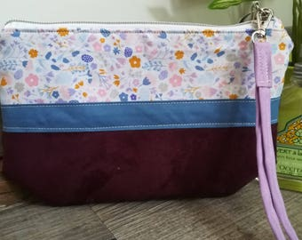 """The Moon, my """"floral"""" hand bag clutch"""