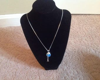 Opalite and Sterling Silver Pendant