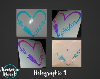 Plexus Swag - Holographic Decal Heart Arrow