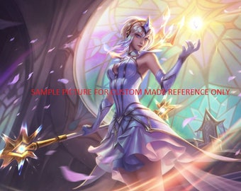 Custom made- Made to order Elementalist Lux League of Legends LoL League Legends light cosplay costume