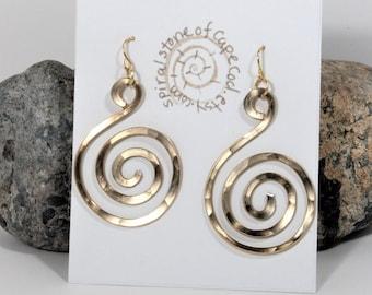 Boho Earrings For Birthday Gift|  Spiral Earrings, Boho Earrings For Girlfriend, Boho Earrings For Wife, Spiral Earrings Gift, Boho Gift