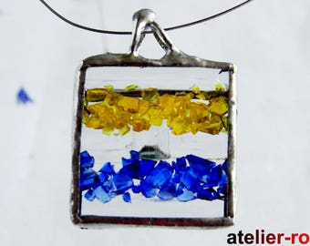 Glass Pendants Tiffany jewelry, stained glass pendant