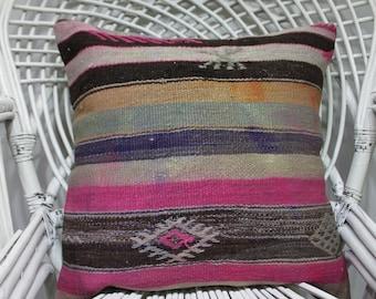 20 x 20 kissen kelim throw pillow southwesr pink wool stripe pillows bohemian pillow covers designer pillow woven pillow cover 1766