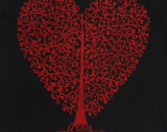 Trees - Support System For Life Heart T-shirt