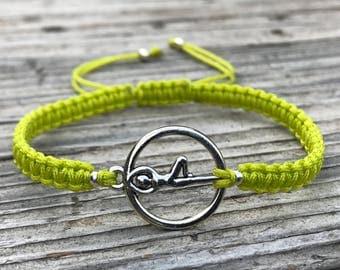 Yoga Macrame Bracelet, Yoga Anklet, Adjustable Friendship Bracelet, Macrame Jewelry, Gift for Her, Meditation Bracelet, Yoga Jewelry