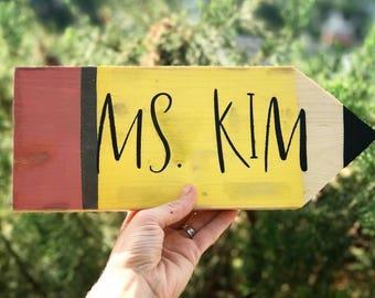 Teacher Name Pencil
