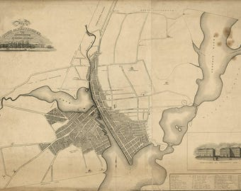 1823 Map of the town of Providence Rhode Island