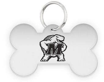 Maryland Terrapins Dog Tags | Pet Tags | Cat Tags | Necklace | College Pet Tags