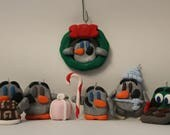 Ornament= Christmas -Polymer Clay-