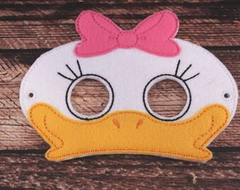 Daisy Duck Inspired Embroidered Mask