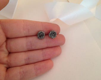 Rose Earrings - 90s Grunge - Grunge Earrings - Rose Jewelry - Vintage 90s Earrings - Nineties - Gothic Earrings - Goth Jewelry - Roses