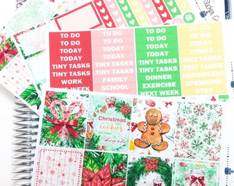 Christmas Sweets Weekly Kit | Planner Stickers, Weekly Kit, christmas Weekly Kit, Vertical Planner Kit, Full Weekly Kit, winter weekly kit