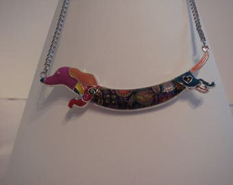 Colorful and floral basset dog collar